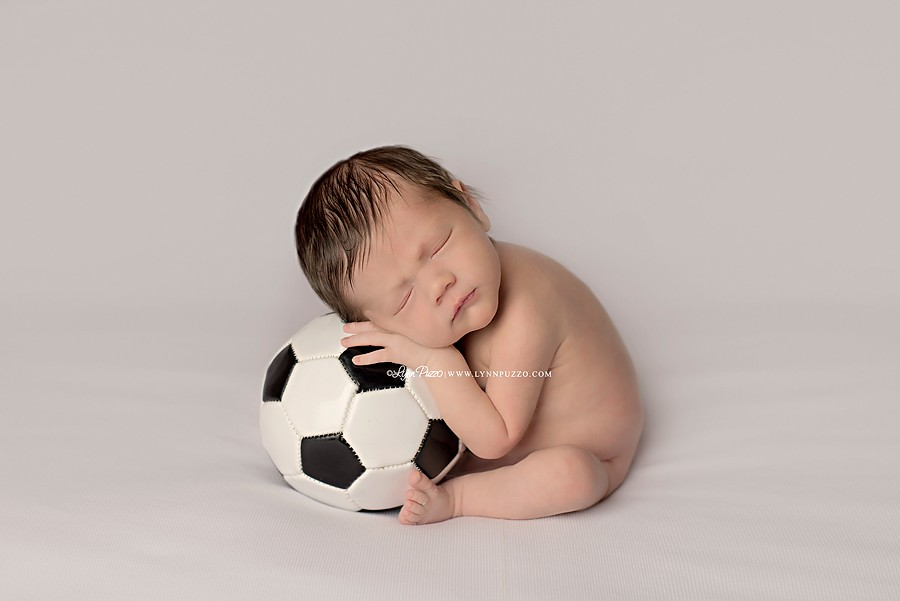 lynn puzzo photography, lynn puzzo newborns, connecticut newborn photographer, ct newborn photographer, newborn photographer ct, newborn photographer, soccer player, baby soccer player, soccer ball