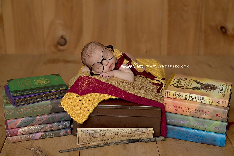 harry potter newborn session, lynn puzzo photography, connecticut newborn photographer, ct newborn photographer, ct newborn photography, best newborn photographer, best newborn photographer in ct