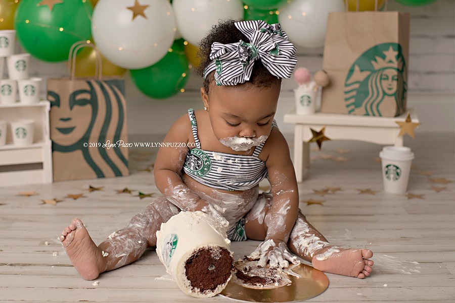 lynn puzzo, lynn puzzo photography, lynn puzzo cake smash, cake smash photographer, fayetteville cake smash photographer, starbucks cake smash, starbucks, smash cake, coffee, coffee cake, atlanta cake smash photographer, atlanta baby photographer, starbucks atlanta, best cake smash photographer, best baby photographer, milestone photographer, milestone session, first birthday, first birthday photographer, starbucks addict, starbucks swag, viral, as seen on tv, featured session, GMA, good morning america, pop sugar, cafe mom, good day philadelphia, fox29, parents magazine, parents, cake smash, viral photo shoot